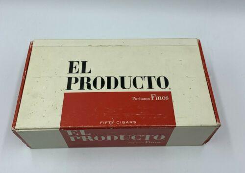 VINTAGE CIGAR BOX EL PRODUCTO PURITANOS FINOS - EMPTY 50 COUNT