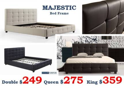 New Quality Bed Frames | Leather/Fabric - 12 Designs - Sale Today