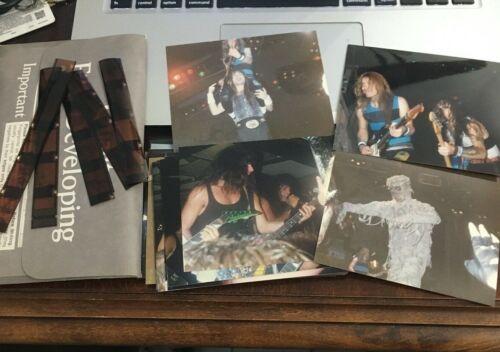 Original Amateur Photographs Concert Pack of 32 Iron Maiden Accept w/ Negatives
