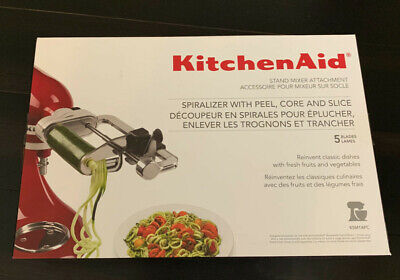 Kitchen Aid Spiralizer With Peel, Core and Slice 5 Blades mixer attachment