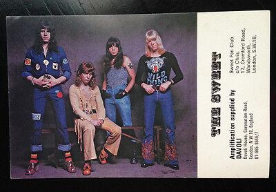 The Sweet 70's original post card Davoli amps - Connolly Tucker Scott Priest