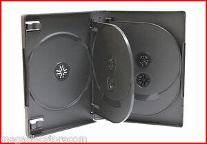 27mm-Full-Size-8-Tray-DVD-Movie-Game-Case-Black-Multi-8-Disc-20-Pk-Canada-n-USA