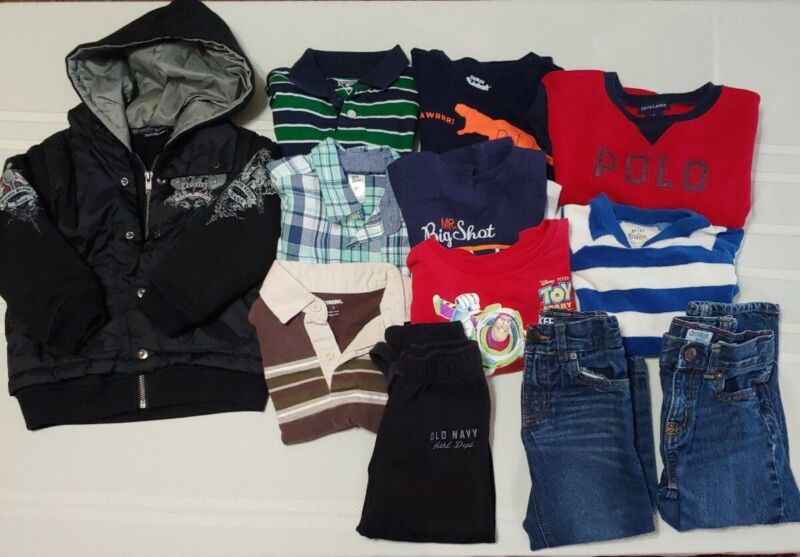 Lot of Boys 12pcs Winter Play Clothes Size 3T Pant Tops Hoodie Jacket