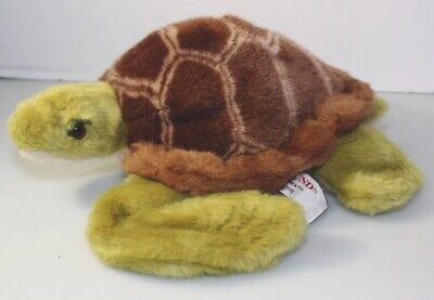 Gund Shea Sea Turtle Tortoise Plush Stuffed Animal  #32035 Green Brown