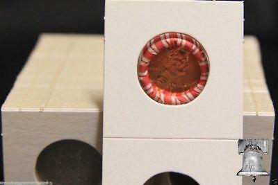 100 Penny / Dime 1.5 x 1.5 Coin Holder Cardboard Mylar Flips 19mm 1 1/2 x 1 1/2