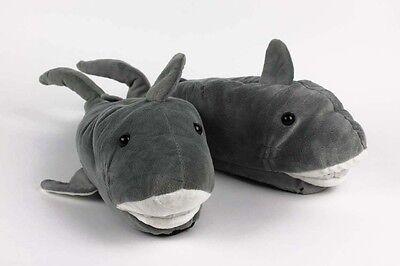 Shark Slippers - Gray Animal Slippers - Adult & Kids Sizes In Stock - Shark Slippers Adult
