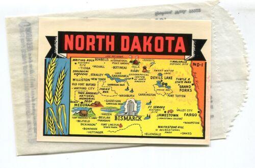 NORTH DAKOTA  wheat vintage unused travel decal #ND-1 L/Turner  free shipping