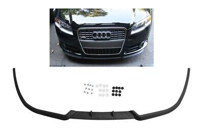 For Audi A4 B7 8E S4 RS4 Front Bumper Cup Chin Spoiler Lip Splitter Valance -