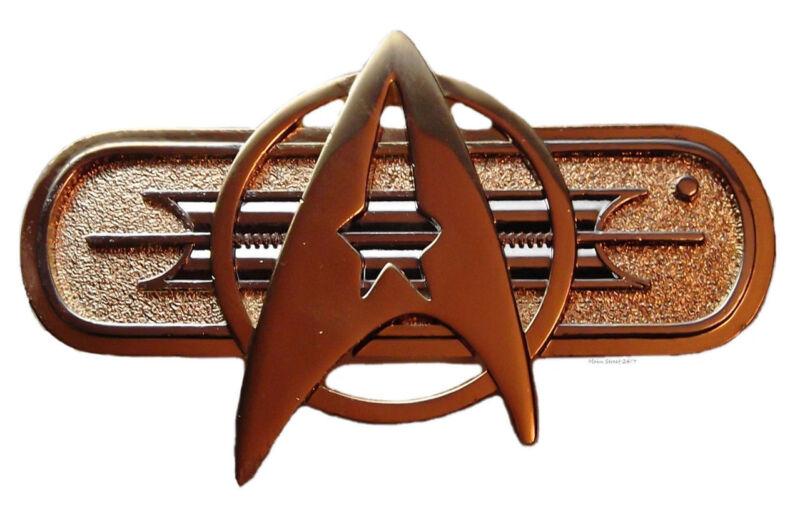 "Star Trek Federation Uniform Insignia 3"" Jacket Pin (AUTHENTIC FULL SIZE)"