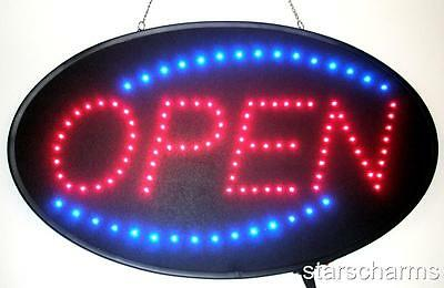 Animated Led Neon Light Open Sign Oval Led Sign S730