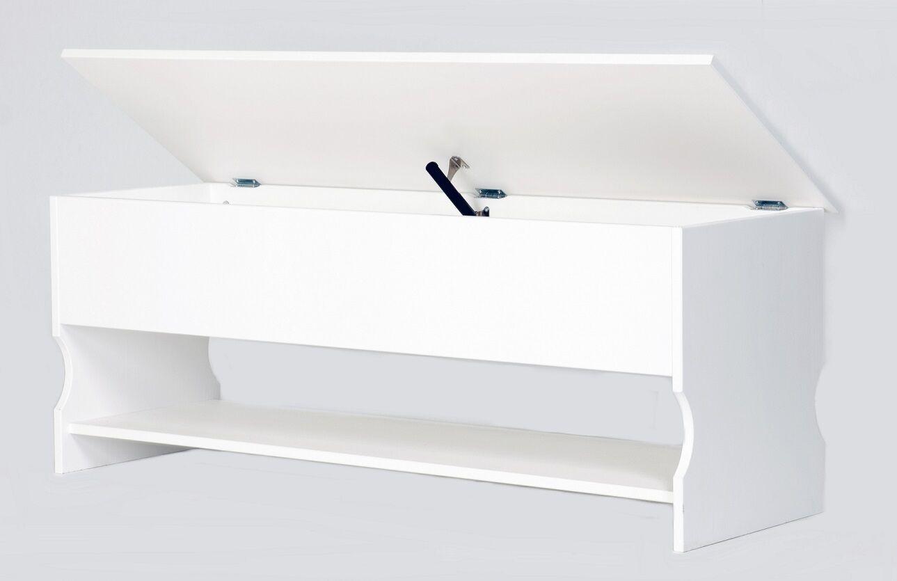massive schuhbank in wei truhe schuhtruhe schuhschrank bank kiefernholz eur 129 00. Black Bedroom Furniture Sets. Home Design Ideas