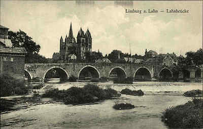 LIMBURG a.d. Lahn Hessen ~1920/30 Ansichtskarte Blick Dom Brücke alte Postkarte