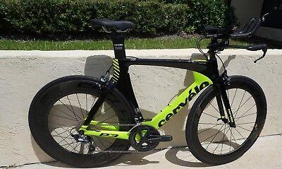 Cervelo P3 56cm Shimano Ultegra Eagle Carbon wheels 65/90 Triathlon Bike
