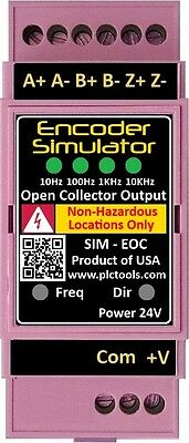 Encoder Pulse Frequency Simulator And Tester 5 To 24vdc Open Collector With Din