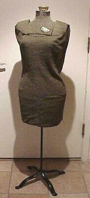 Vintage Antique Singer Size A Adjustable Mannequin Dress Form On Metal Stand