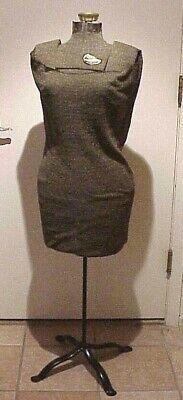 Vintage Antique Singer Size A Adjustable Mannequin Dress Form On Metal Stand