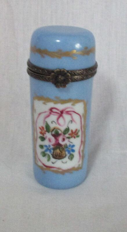 PORCELAIN BODKIN with Brass Trim ; Original ANTIQUE c1800