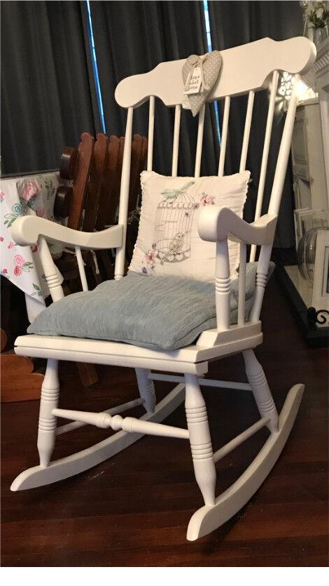 Beautiful wooden rocking chair