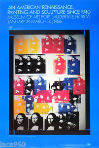 Andy-WARHOL-Mona-Lisa-Collage-1986-American-Renaissance-Exhibition-Poster