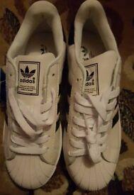 New size 5 Adidas Superstar