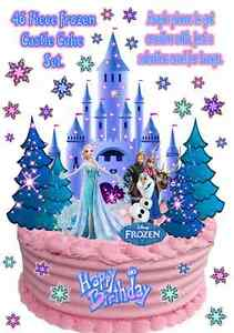 Disney-FROZEN-ICE-CASTLE-Anna-Elsa-Olaf-WAFER-Stand-Up-Birthday-Cake ...