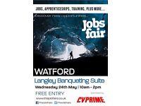 FREE JOBS FAIR - Watford - 24th May 2017