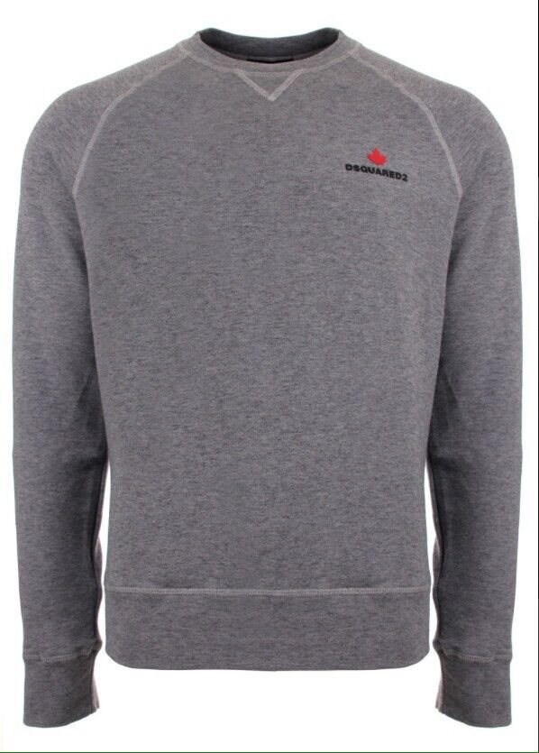 DSQUARED2 Maple Logo Sweatshirt in grey marl.