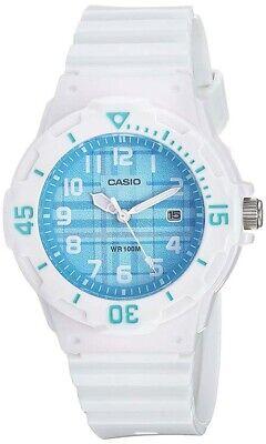 Casio Women's Quartz 100m Blue Dial White Resin Watch LRW200H-2CV