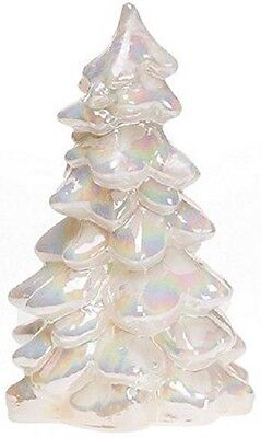 Christmas Holiday Tree Mother of Pearl Milk Carnival Glass - Mosser USA Large 8""
