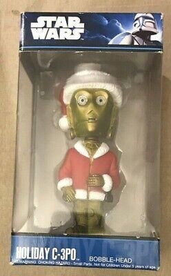 Funko Pop Star Wars Holiday C-3PO Bobble Head 830395099316 RARE Santa C-3PO