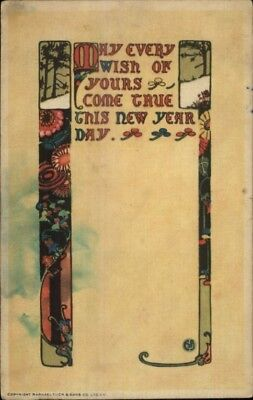 TUCK New Year - Arts & Crafts 1919 Used Postcard - New Year Crafts