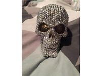 Large Sparkly Diamonte Skull