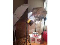 InterFit 3200 Tungsten Light + umbrella +stand photography/ Studio Lighting Kit.