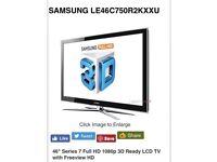 Samsung 46 inch 3D ready TV