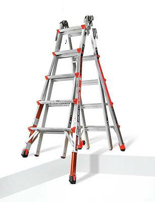 22 1a Demo Revolution Little Giant Ladder With Ratchet Levelers 12022-801