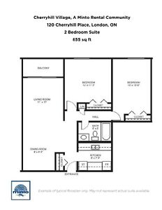 Two Bedroom Suites Cherryhill Village  for Rent - 105... London Ontario image 5