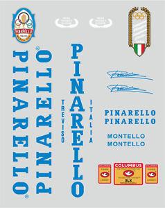 PINARELLO MONTELLO FRAME DECAL SET BLUE