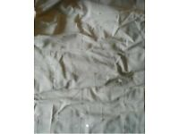 curtains 2 pairs of lovely ivory .Very good cond