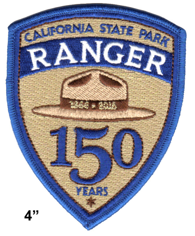 """California State Park Ranger  4"""" 150th Anniversary Logo Patch - large size"""