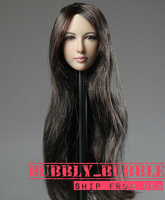 1 6 Asian Beauty Female Head Sculpt For 12  Hot Toys Phicen Pale Ship From Usa