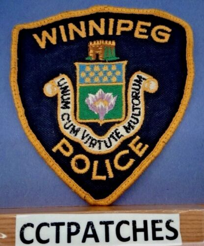 WINNIPEG, CANADA POLICE YELLOW/BLACK SHOULDER PATCH