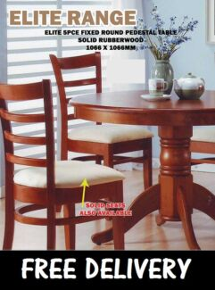 DELIVERED FREE Solid Timber 5-Piece Dining Suite - BRAND NEW New Farm Brisbane North East Preview