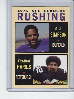 O J Simpson   Franco Harris 1975 Nfl Rushing Leaders Rare Mc Glory Days  5