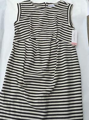 Liz Lange Maternity Sleeveless Elegant Dress Black White Pregnant ( Runs Large)