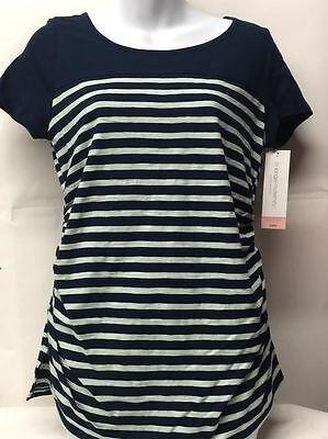 Liz Lange Maternity Short Sleeve Shirt Top Pregnant - Navy,Green, Pink All Sizes