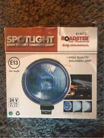 Roadster halogen spotlights X2 Brand new