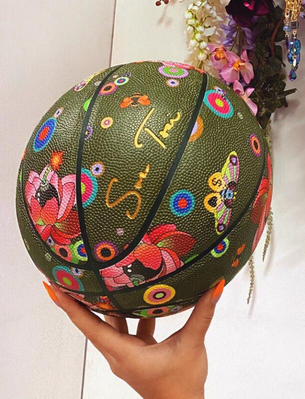 Sue Tsai Basketball Flower Bomb Limited Edition Art  , 300 Pieces Worldwide