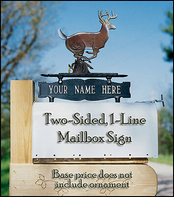 Whitehall 2-Sided 1-Line Address Sign Marker Personalized Plaque in 17 Colors ()