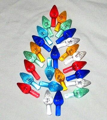 25 Replacement Large Ceramic Christmas Tree Twist Flame Lights Bulbs Peg