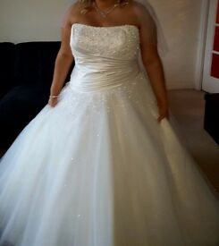 ***reduced*** Ronald Joyce Size 22 Princess Dress with hoop (can go up or down a few sizes)